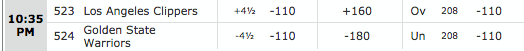 Clippers vs Warriors 11-5-14