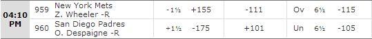 Mets vs Padres 7-20-14