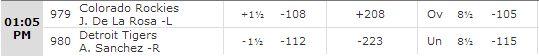 Rockies vs Tigers 8-3-14